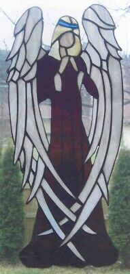 """Beautiful Stained Glass Angel 18"""" x7"""""""