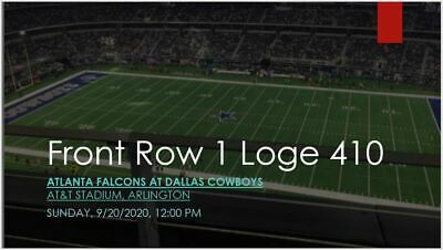 2 Tickets Dallas Cowboys vs Atlanta Falcons Section 410 Row 1 REFUND IF NOT PLAY
