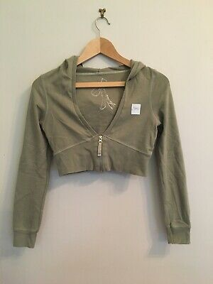 Girls Green Cropped Hooded Sized aged 12 Years Jane Norman C202