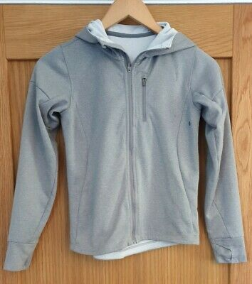Girls Grey Zip up Active Jacket with Hood No Size (approx 10 years) H&M C183