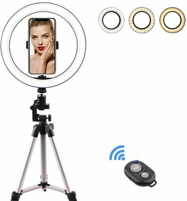 Ternence Flynn 10 LED Makeup Light with Tripod Stand & Phone Holder for Selfie,