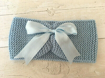 HANDKNITTED *Brand New*  Baby Headband/Earwarmer ~ Baby Blue
