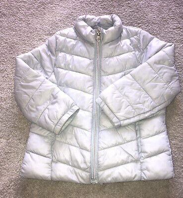 Light Blue Girls 'Packable' Padded Puffa Coat Age 2-3
