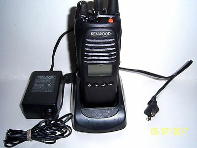 KENWOOD TK 5410 K-2, V-3, RADIO with Charger in Good Working Condition.