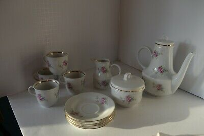 China PORCELAIN TEA SET Rose Flower German Democratic Republic