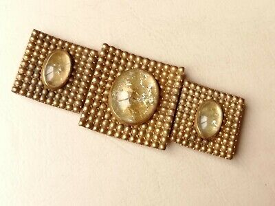Antique jewellery large fabulous French buckle 3.25 inches x 1.25 inches.