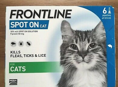 FRONTLINE Spot On Flea & Tick Treatment for Cats (Pack of 6)