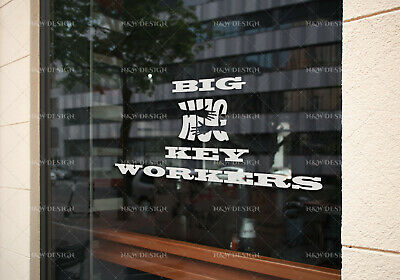 Thank You Key Workers Car Window Wall Stickers Decal  Art Big/Large Size
