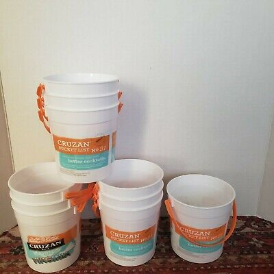 10 Cruzan Tropical Rum Buckets Party Tiki Cups New Holds 4 To 6 Drinks Free ship