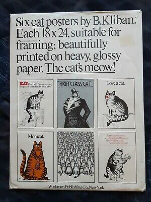 Six Cat Posters by B. Kliban 18 x 24 inches + Four More Bonus Posters 10 TOTAL