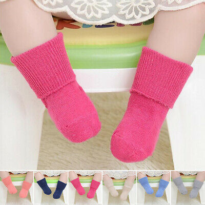 Baby Girls Children Soft Socks Ankle Tights Winter Warm Casual Solid Hosiery