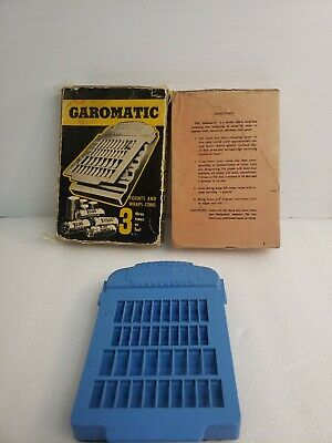 GAROMATIC Coin Counter wrapper manual wrapping-counting vintage antique rare wow