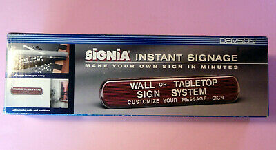 """NEW Davson Signia WALL/TABLETOP Instant Signage-Black # 5631--2.5"""" high x 12.5 W"""