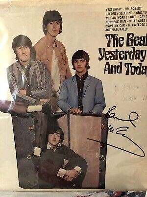 Paul McCartney Signed Yesterday & Today LP ! In Person