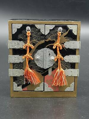 Antique Japanese Hina Doll Furniture 4 Drawers Chest Lacquer Jewelry Box