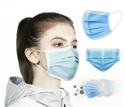 100x Disposable Face Mask Protective Surgical mask Mouth Guard