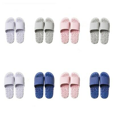 4x Unisex Foot Massage Slippers Non-Slip Sandals Foldable Shoes Breathable
