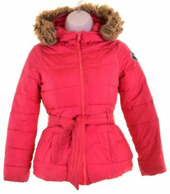 ABERCROMBIE & FITCH Girls Padded Jacket 7-8 Years Small Pink  KV05