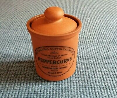 """Henry Watson Pottery """"The Original Suffolk Canister"""" *Peppercorns* #Excellent#"""