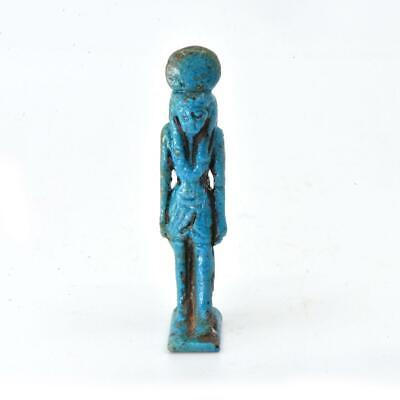 An Egyptian Faience Amulet of Isis, Third Intermediate Period, 21st Dynasty, ca.
