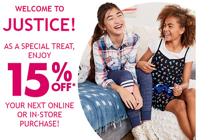 Justice Coupond 15% Off Fast Message Delivery