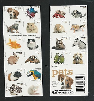 2016 #5125a with 5106-25 Pets Complete Booklet with 20 Different Designs Mint