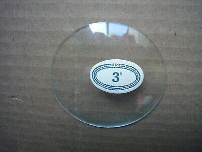 """HRC 3 Inch Glass Convex Replacement Clock Face New Old Stock! ~ 3"""""""