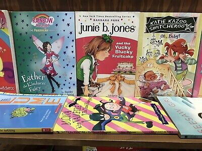 Lot of 10 Chapter Books for GIRLS Youth Early Reader Young Adult Children RANDOM