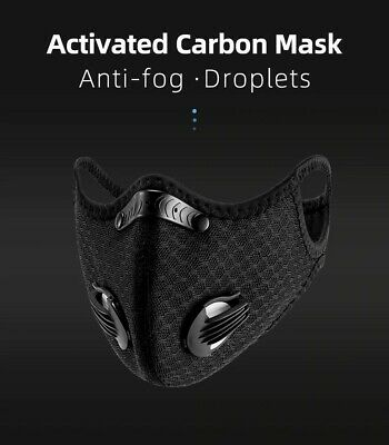 Reusable Face Mask Breathable Dustproof with 3 Replacement Filters