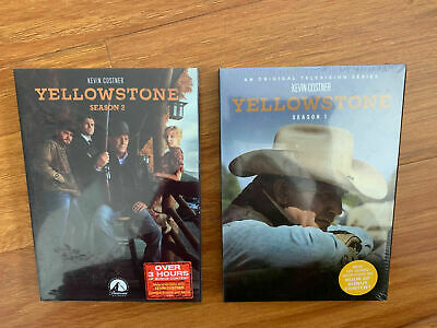Yellowstone: Seasons 1-2 (DVD, 8-Disc Set) Free and Fast Shipping!