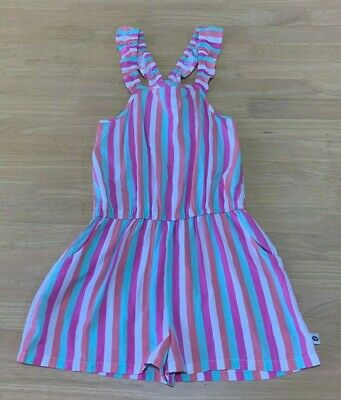 Girls size 7 Coloured stripes playsuit  jumpsuit jump play suit PIPING HOT  NEW