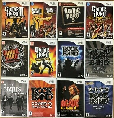 Guitar Hero / Rock Band (Nintendo Wii) Wii Tested