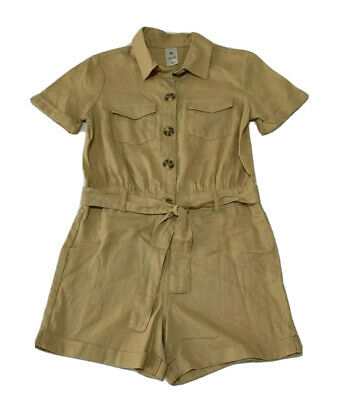 Girls size 7 Light brown button up  playsuit  jumpsuit jump play suit Target NEW
