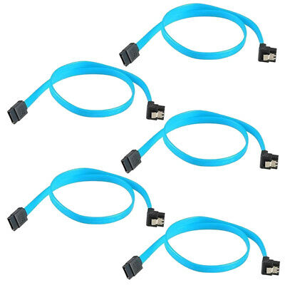 """5x 18"""" SATA 3.0 Cable SATA3 III 6GB/s Right Angle 90 Degree for HDD Hard DriveZ2"""