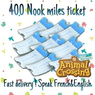 ACNH 400 Nook Miles Tickets 🎫 Cheap Price, Fast Delivery✨