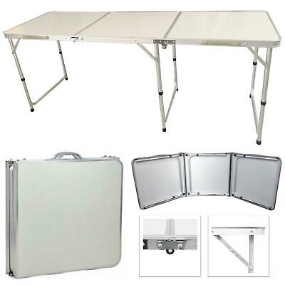 Foldable 6ft Heavy Duty Folding Table Catering Camping MDF Trestle Picnic BBQ