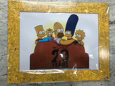 SUPER RARE The Simpsons 20th Anniversary Cel Sericel, DVD, Pin and Press Kit