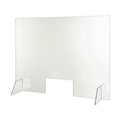 Desk Partition Screen Sneeze Guard Checkout Spit Shield - 750mm (H) x 1000mm (W)