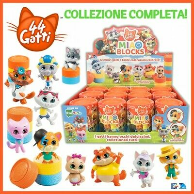 44 Gatti Miao Blocks Serie Completa 12 Gattini Box E Bustine Integre