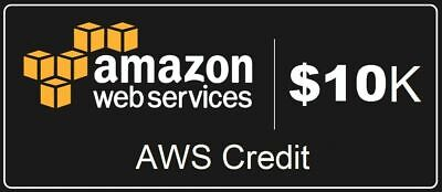 AWS - Amazon Web Services $10,000 credit - apply to your account - valid 2 years