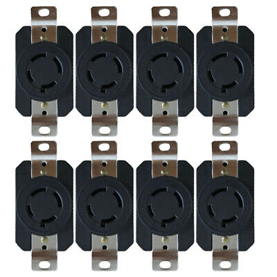 8pcs L15-20 20A 250V Power Supply Outlet Adapter Locking Sockets Set Accessories