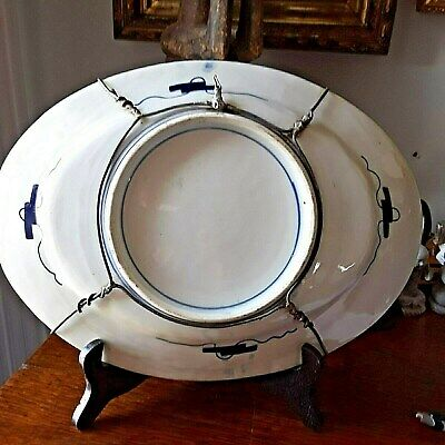 Antique Large Imari Oval Chinese Platter X- Large Hand Painted with hanger