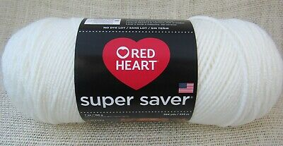Red Heart Super Saver 100% Acrylic 7 oz In Soft White