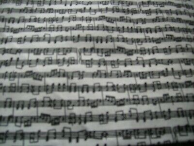 Fabric quilt  1/4 yard Music notes