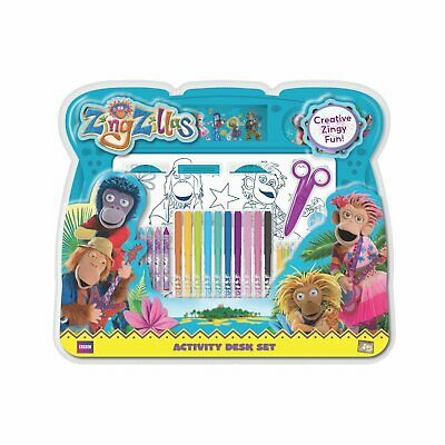 ZingZillas Activity WRITING DRAWING Stationery Desk Set NEW IN BOX