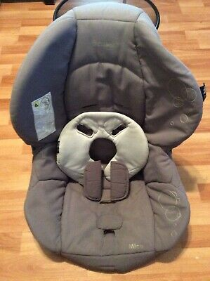 Maxi Cosi Micro Baby Car Seat Cover Cushion Replacement Part Gray Silver