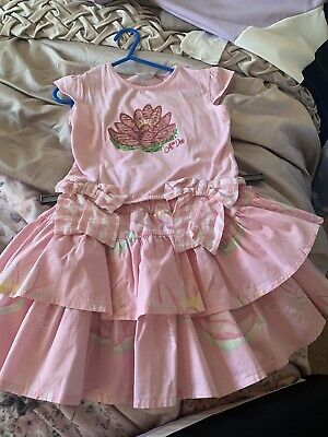 Adee Pink Skirt And Top Age 6 Excellent Condition