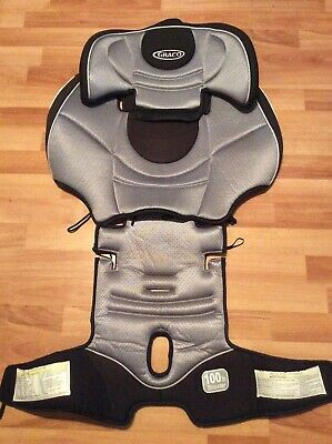 Graco Nautilus Booster Car Seat Cushion Cover Canopy Part Set Black Silver