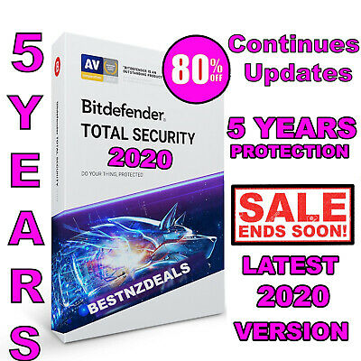 Bitdefender Total Security 2020 - 5 Years 1 Device - Download