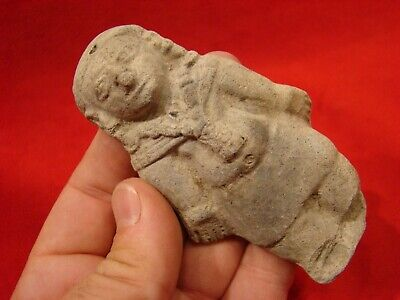 Pre Columbian Priest Or Chieftain. Jama Coaque Culture Authentic 500 Bc- 500 A D